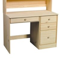 Archbold Pine Modular Home Office Single Pedestal Desk