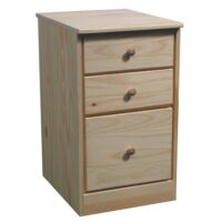 Archbold Pine Modular Home Single Pedestal 3 Drawer
