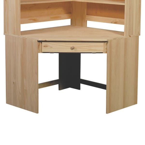 Archbold pine modular home office large corner desk - Pine corner desks ...