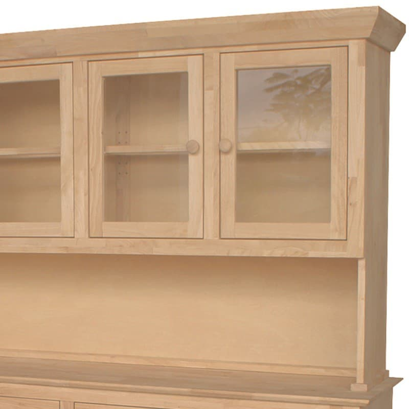 Traditional Wood Buffet And Hutch 4 Doors Free Shipping