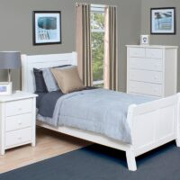 Bay Harbor Pine White Bed