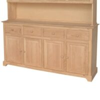 Whitewood Buffet - 4 drawers and 4 doors