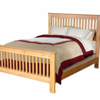 Archbold Alder Slat Bed with Solid Wood Rails and Slats