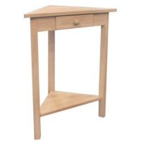 Whitewood Corner Accent Table