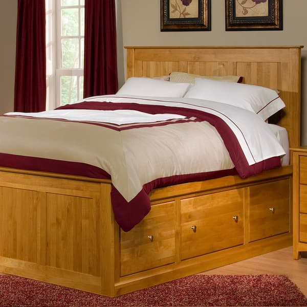 The Archbold Solid Alder Chest Bed Has Storage Drawers On