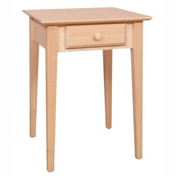 Alder shaker end table for Table th collapse