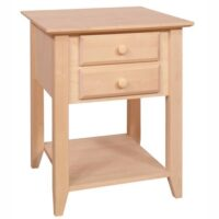 Archbold Alder Shaker End Table 2 Drawers