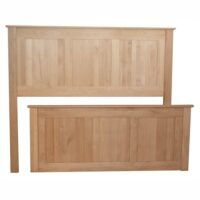 Archbold Alder Shaker Chest Bed Headboard and Footboard