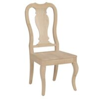 Whitewood Queen Anne Chair