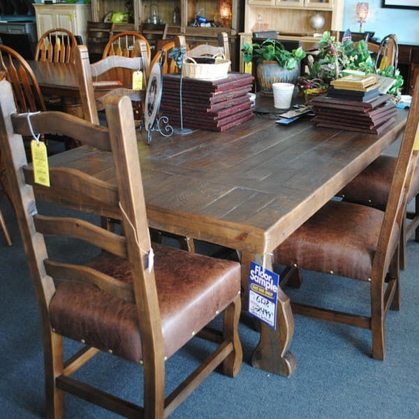 Hacienda Solid Pine Dining Table and 6 Chairs - Furniture ...