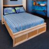 Contemporary Murphy Bed natural finish.