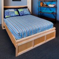 Contemporary Murphy Bed Natural Finish
