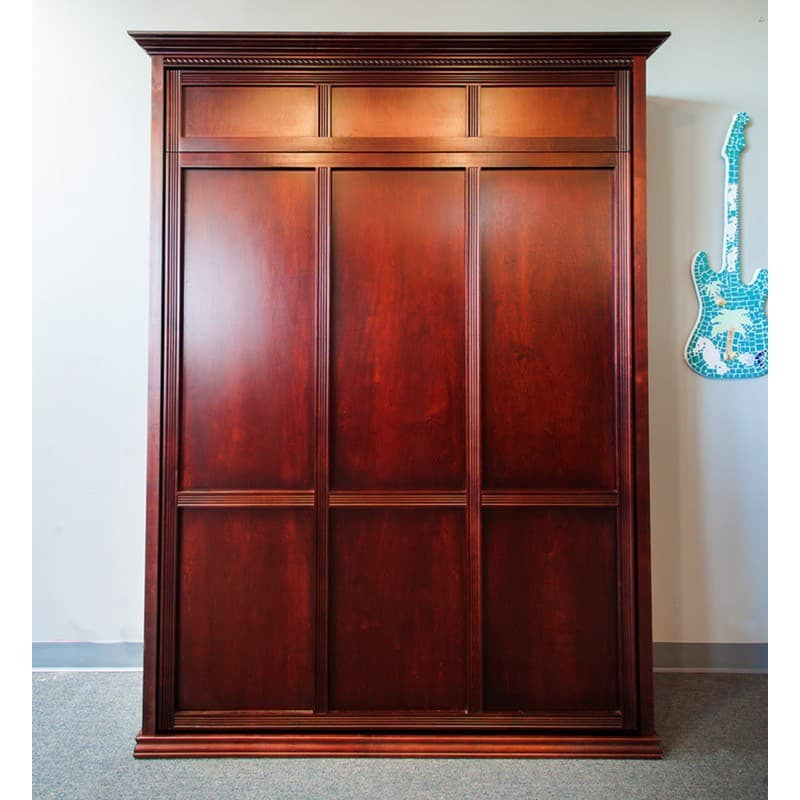 Murphy Bed Flat Panel In Cafe Espresso Maple Wood Rope