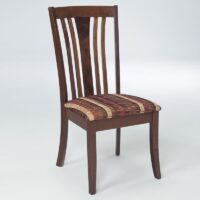 Americ Bantly Chair with Eyedropper fabric seat and Rossburn stain