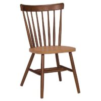 Whitewood Copenhagen Chair in Cinnamon stain with an Espresso stain seat.