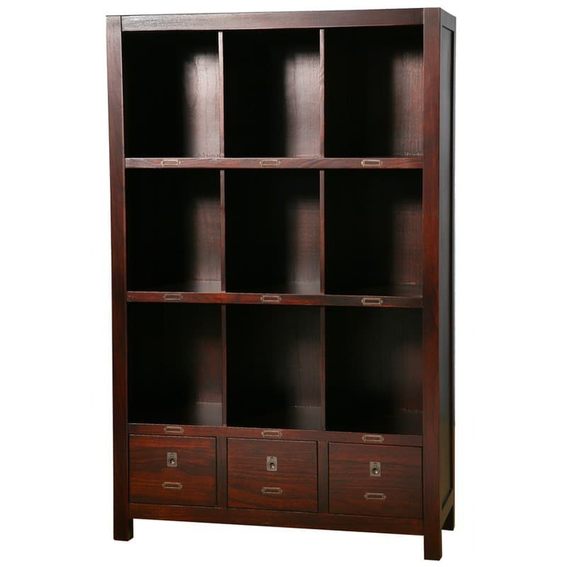 Archbold All Wood Accents Modern Bookcase in Cherry Espresso stain.