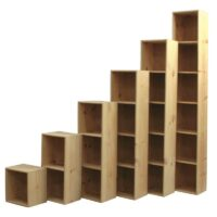Solid Pine Bookcase Cubes