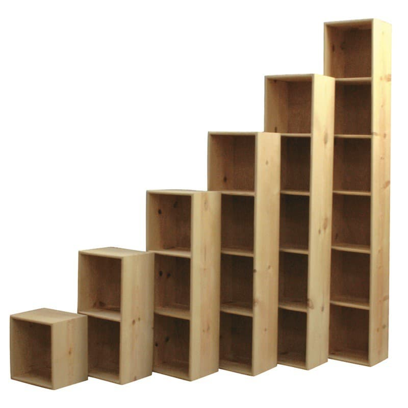 Furniture In The Raw Solid Pine Bookcase Cubes Are Perfect Storage