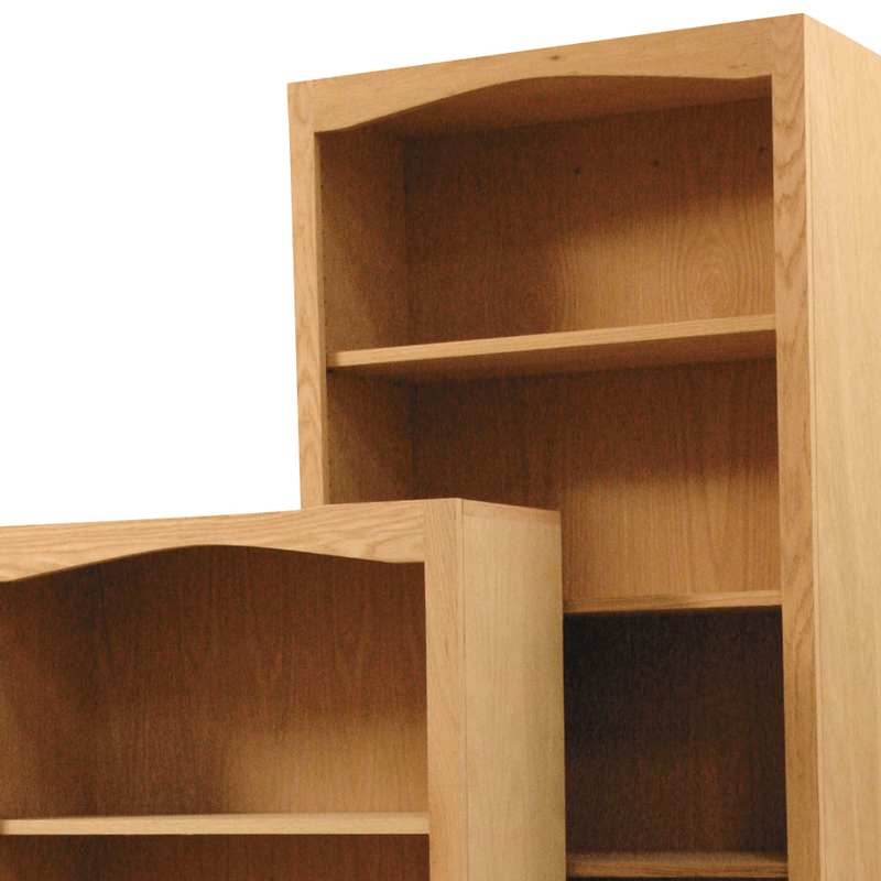 Arch top wood bookcases for Furniture in the raw