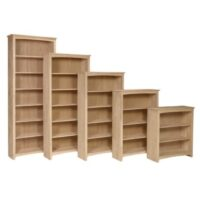 Whitewood Shaker Bookcase Collection comes ready to assemble.