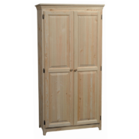 "Two Door Pine Pantry 70"" h."