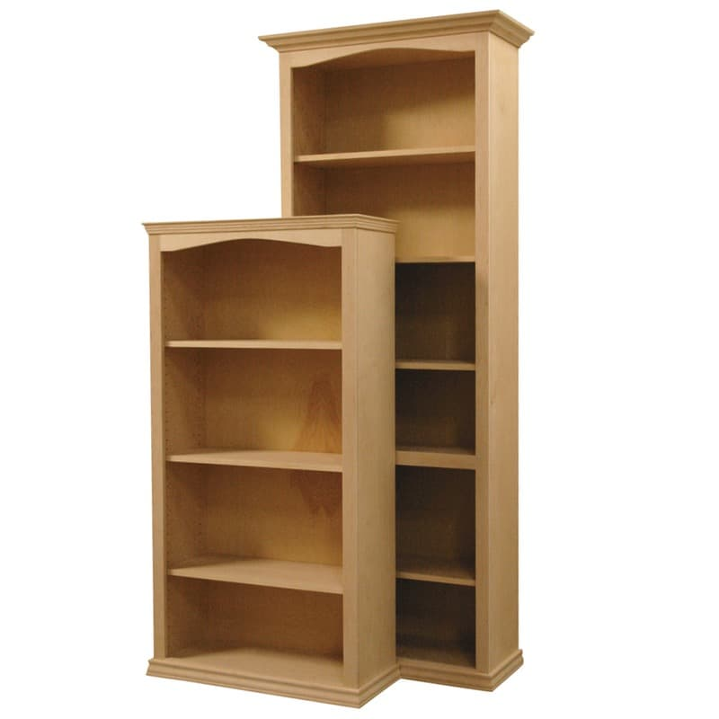 Full Wrap Molding Wood Bookcases