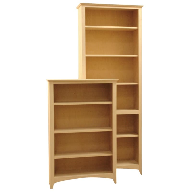 Wood Bookcases Furniture ~ Full wrap molding wood bookcases