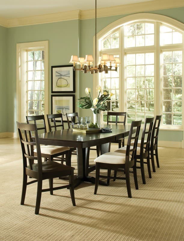 The Milano Double Pedestal Table By Whitewood Is