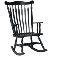 Williamsburg Colonial Rocking Chair in Antique Black paint