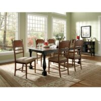 John Thomas Old World Extension Dining Table and Chairs