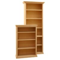 Furniture in the Raw Traditional Full Wrap Wood Bookcases