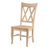 Double X Side Chair with wood seat