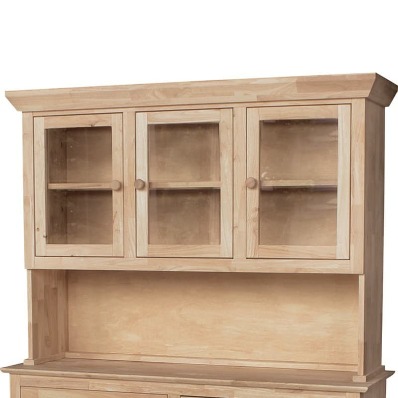 Traditional Wood Buffet And Hutch 3 Door