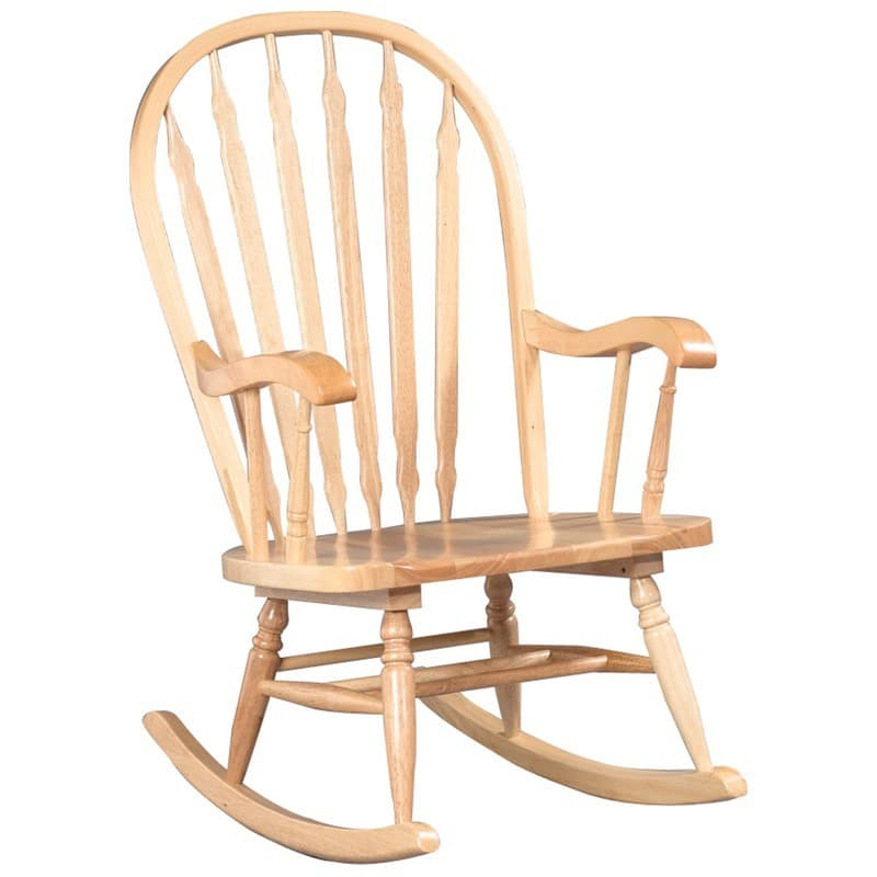 Windsor Bentwood Rocker with Natural Finish