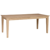 The Shaker Bench Dining Table, 72 inches long