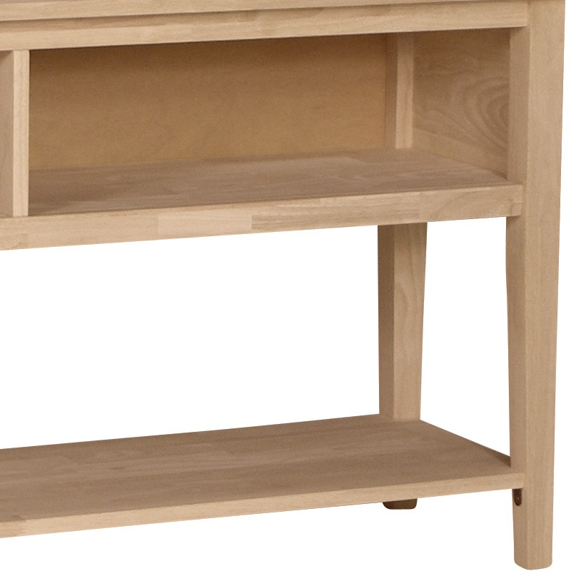 Large open shaker entertainment center for Furniture in the raw