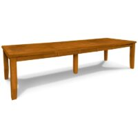 Shaker Extension Dining Table In Aged Cherry Stain. Shaker Extension Dining Table  Unfinished