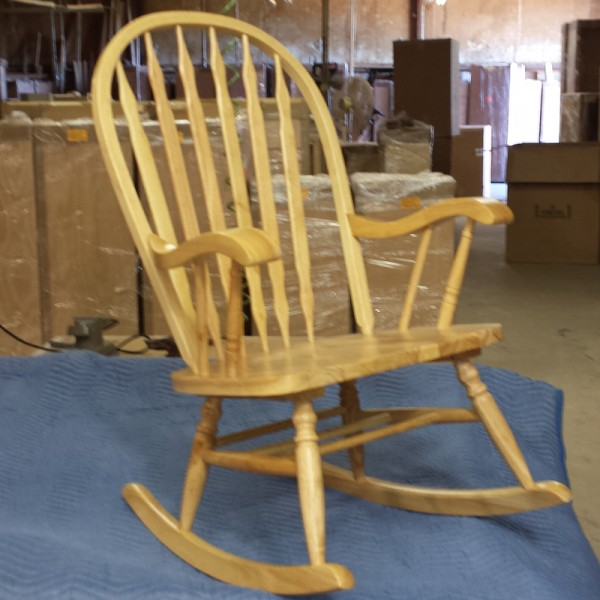 Windsor Rocker with Natural Finish