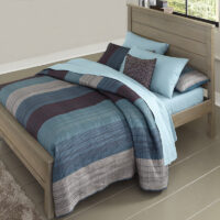 Highlands Alex Panel Bed with Driftwood finish