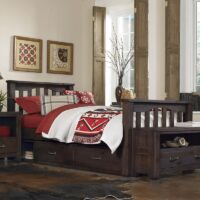 Full size Highlands Harper Bed with storage drawers and Espresso finish
