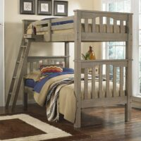 Highlands Harper Bunk Bed in Driftwood finish.