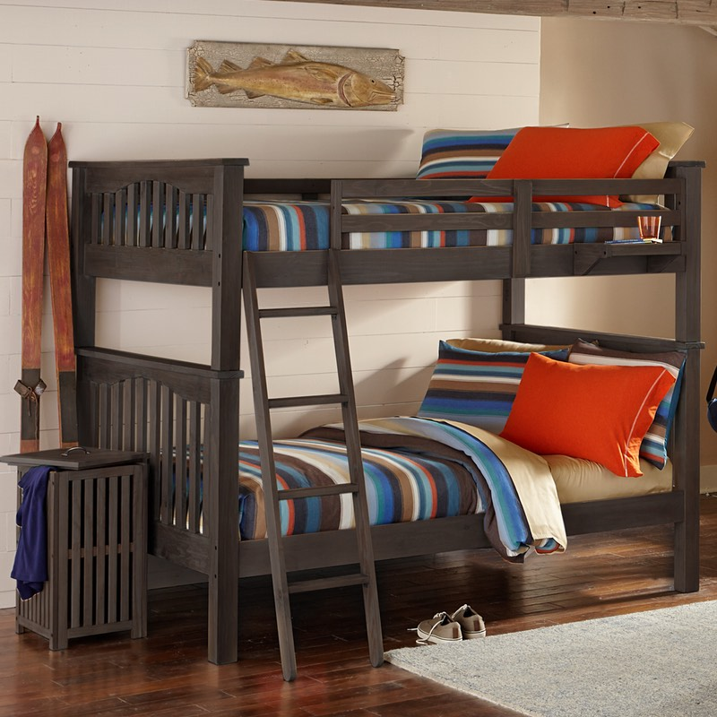 Full Over Full Bed Part - 44: Highlands Harper Bunk Bed In Espresso. Full Over Full Size Beds