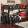 Full size Highlands Harper Bunk Bed with drawers in Espresso finish