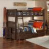 Full size Highlands Harper Bunk Bed with trundle in Espresso finish