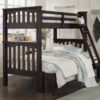 Highlands Harper Bunk Bed in Espresso finish. Twin