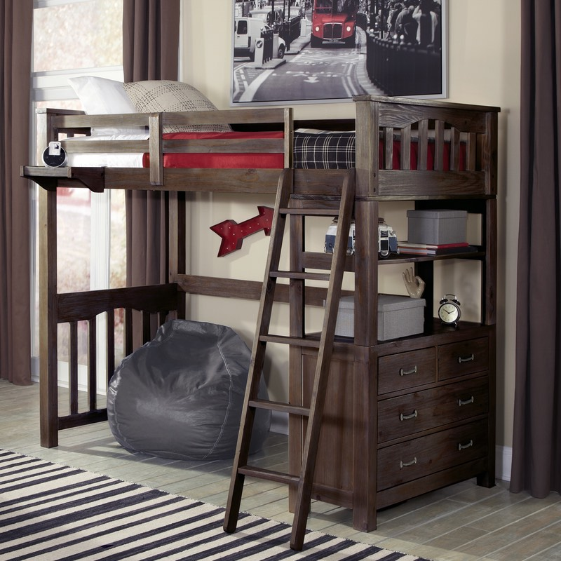 Twin Highlands Loft Bed In Espresso