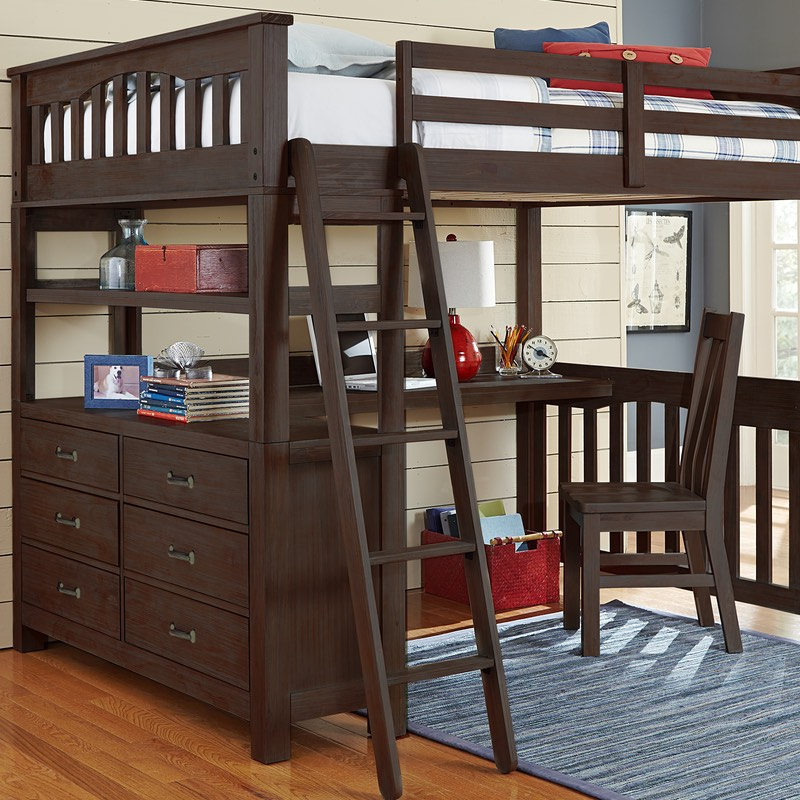 Highlands Twin Loft Bed Box A-Ends/Headboard/Slats only