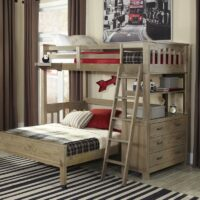 Highlands Loft Bed in Driftwood