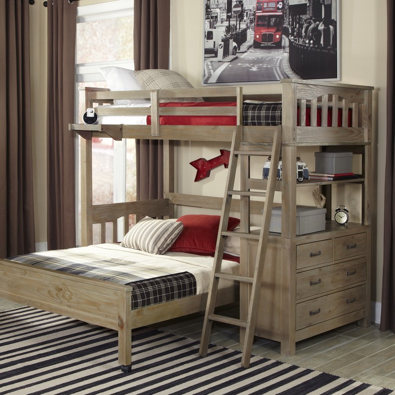 Highlands Twin Loft Bed Box A Ends Headboard Slats Only