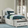Highlands Bailey Arch Panel Bed Twin White
